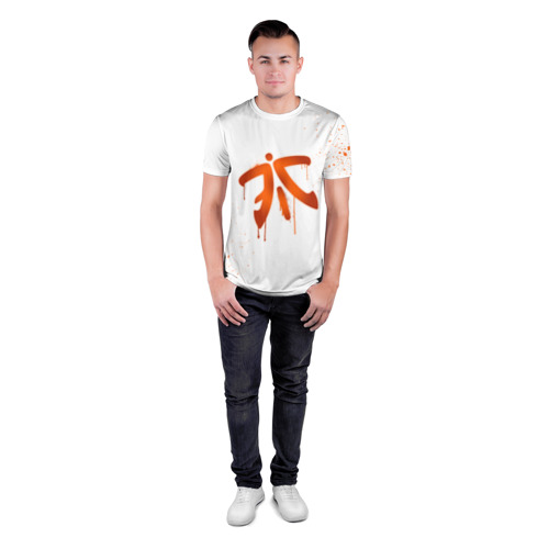 Мужская футболка 3D спортивная  Фото 04, cs:go - Fnatic (White collection)