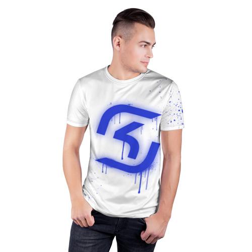 Мужская футболка 3D спортивная  Фото 03, cs:go - SK Gaming (White collection)