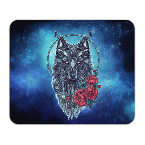 Волк с цветами