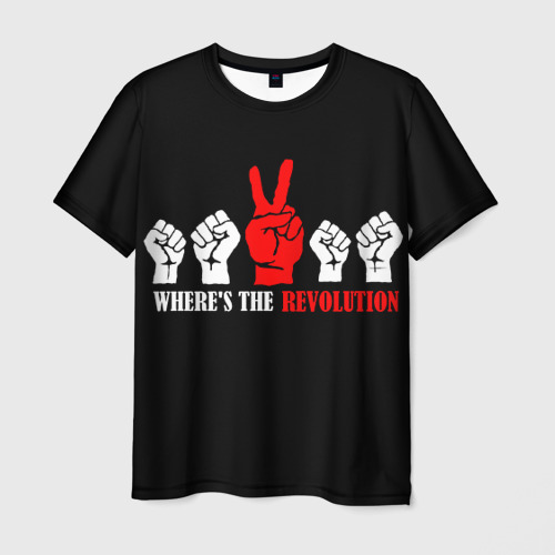 Мужская футболка 3D DM: Where's the revolution?