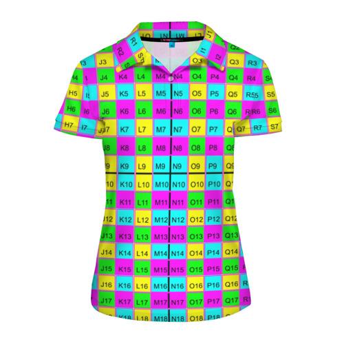 Женская рубашка поло 3D Тестовый яркий