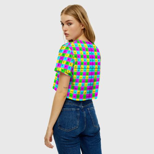 Женская футболка Crop-top 3D Тестовый яркий Фото 01