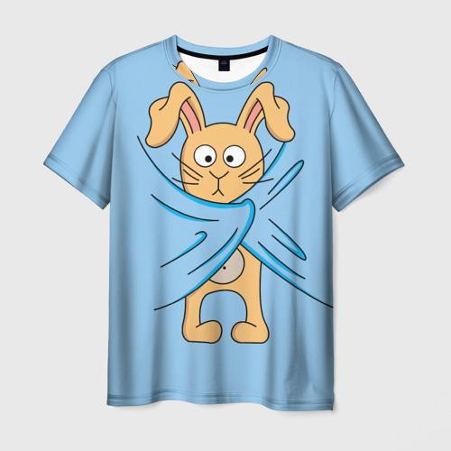 Мужская футболка 3D Кролик Фото 01