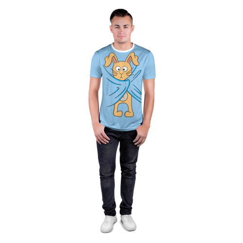 Мужская футболка 3D спортивная  Фото 04, Кролик
