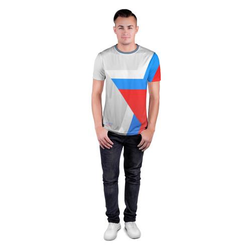 Мужская футболка 3D спортивная  Фото 04, Звезда России