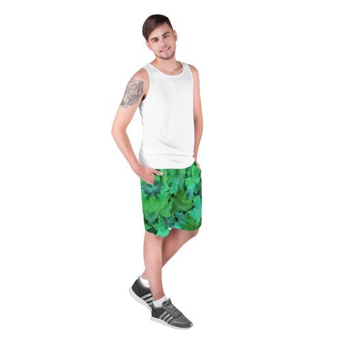 Мужские шорты 3D  Фото 03, листья