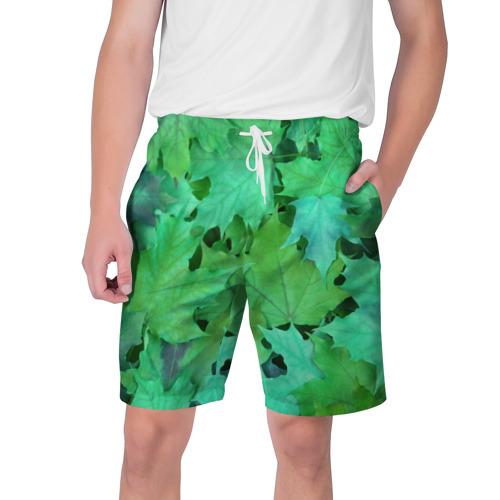 Мужские шорты 3D  Фото 01, листья