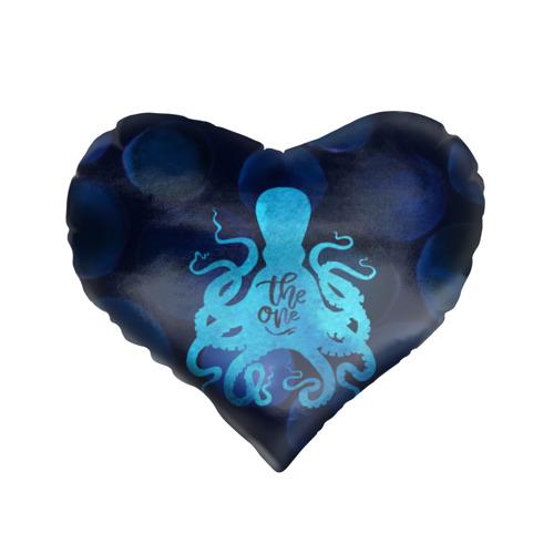 Подушка 3D сердце  Фото 01, крутой осьминог