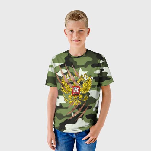 Детская футболка 3D Рваный камуфляж мужской