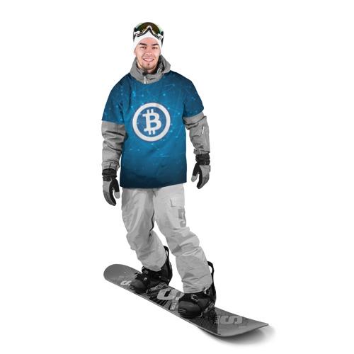 Накидка на куртку 3D  Фото 03, Bitcoin Blue - Биткоин