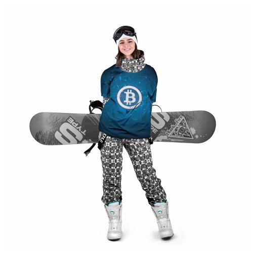 Накидка на куртку 3D  Фото 05, Bitcoin Blue - Биткоин