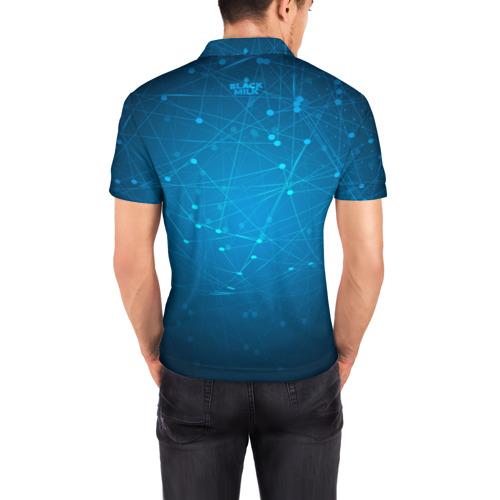 Мужская рубашка поло 3D  Фото 04, Bitcoin Blue - Биткоин