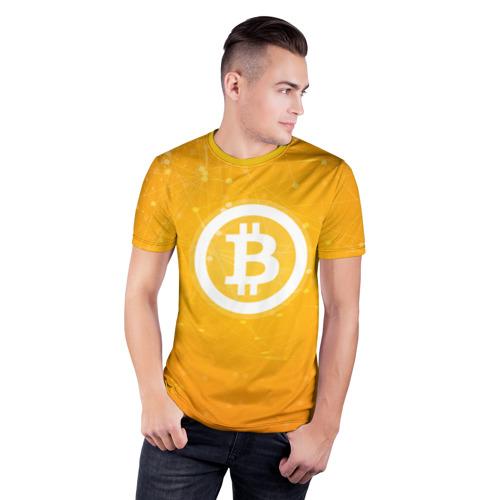 Мужская футболка 3D спортивная  Фото 03, Bitcoin - Биткоин