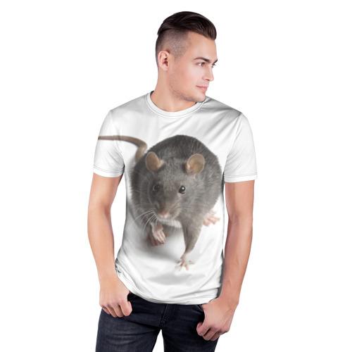 Мужская футболка 3D спортивная  Фото 03, Крыса