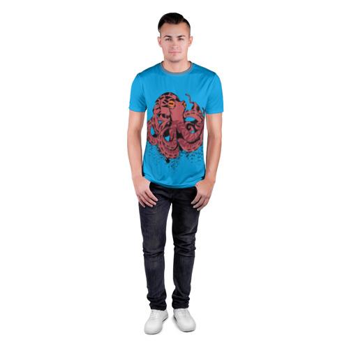 Мужская футболка 3D спортивная  Фото 04, Осьминог