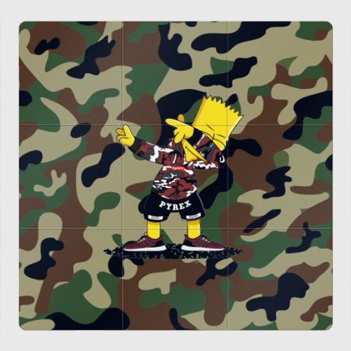 Магнитный плакат 3Х3 Dab Bart Simpson
