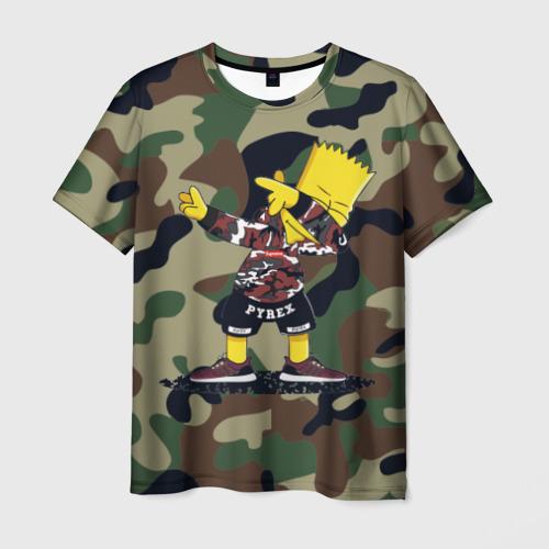 Мужская футболка 3D Dab Bart Simpson