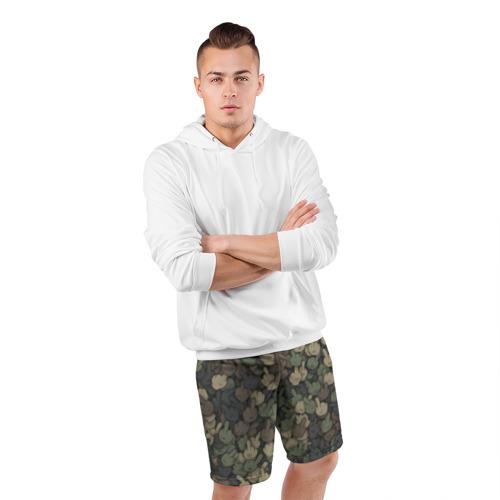 Мужские шорты 3D спортивные  Фото 05, Камуфляж с пальцами