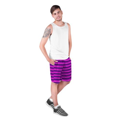 Мужские шорты 3D  Фото 03, Неоновые линии