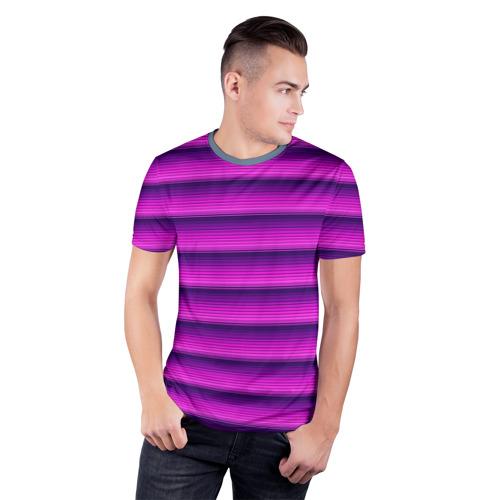 Мужская футболка 3D спортивная  Фото 03, Неоновые линии