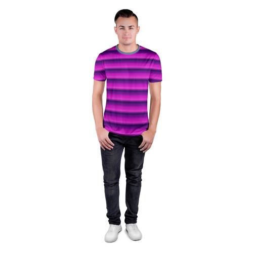Мужская футболка 3D спортивная  Фото 04, Неоновые линии