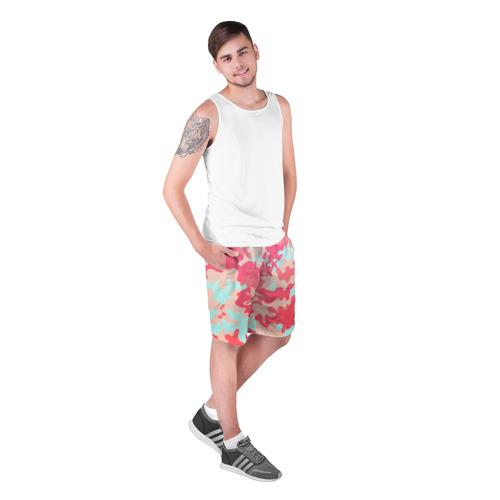 Мужские шорты 3D  Фото 03, Black Milk Розовый Камуфляж