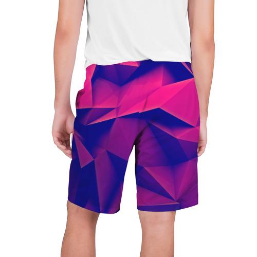 Мужские шорты 3D  Фото 02, Violet polygon