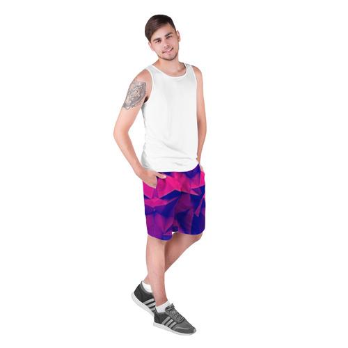 Мужские шорты 3D  Фото 03, Violet polygon
