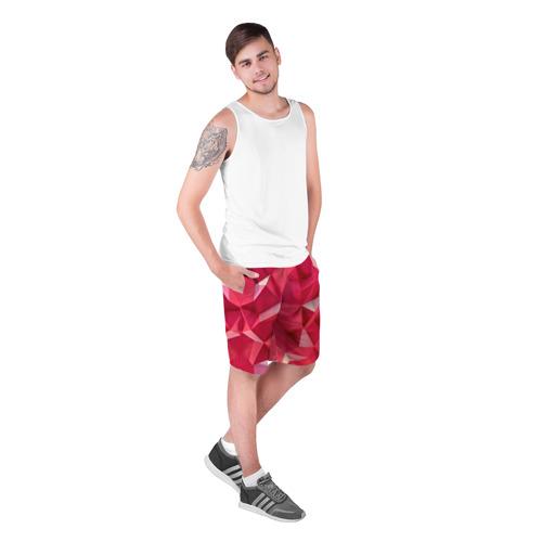 Мужские шорты 3D  Фото 03, Розовые грани