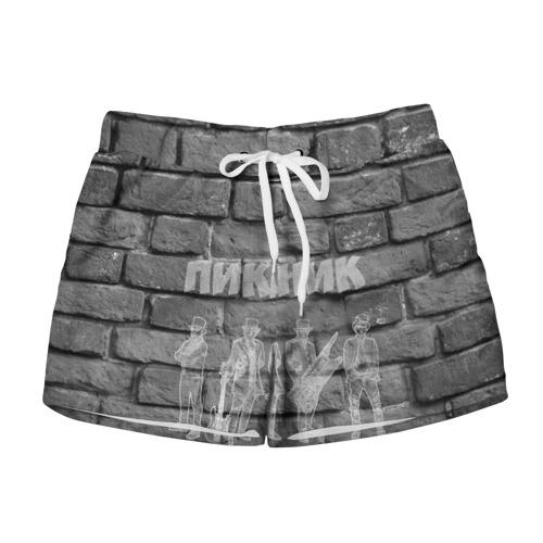 Женские шорты 3D  Фото 01, Пикник мелом на стене