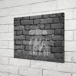 Пикник мелом на стене