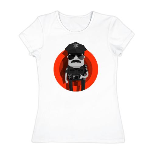 Женская футболка хлопок  Фото 01, Красная молния правосудия