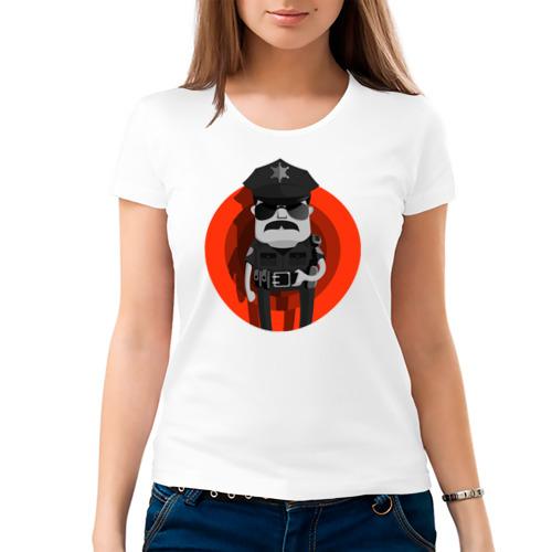 Женская футболка хлопок  Фото 03, Красная молния правосудия