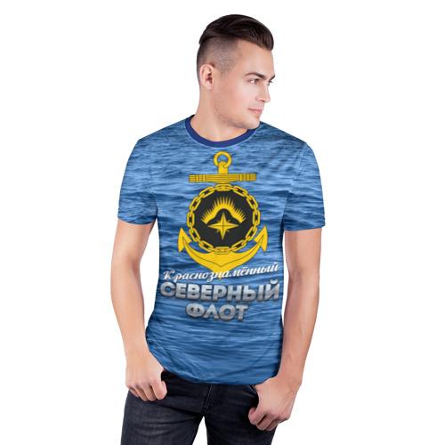 Мужская футболка 3D спортивная Северный флот Фото 01