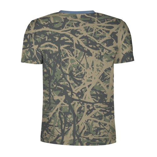 Мужская футболка 3D спортивная  Фото 02, Лесной камуфляж