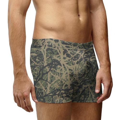 Мужские трусы 3D  Фото 03, Лесной камуфляж