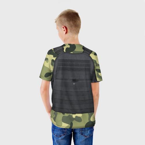 Детская футболка 3D Бронежилет + камуфляж Фото 01