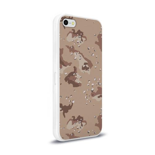 Чехол для Apple iPhone 5/5S силиконовый глянцевый  Фото 02, Камуфляж пустынный 6ти цветный