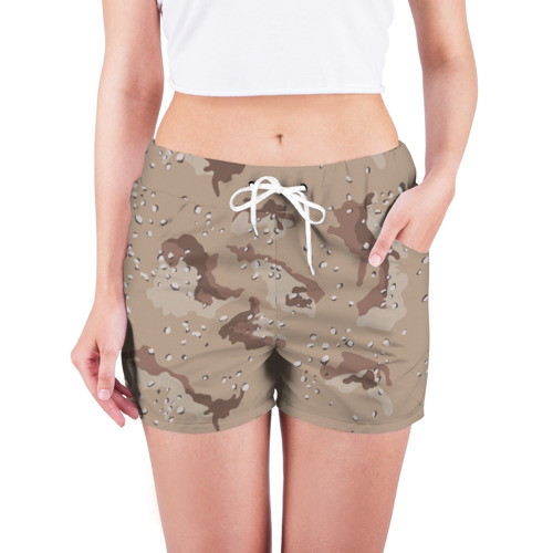 Женские шорты 3D  Фото 03, Камуфляж пустынный 6ти цветный
