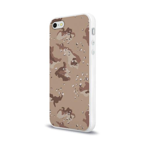 Чехол для Apple iPhone 5/5S силиконовый глянцевый  Фото 03, Камуфляж пустынный 6ти цветный