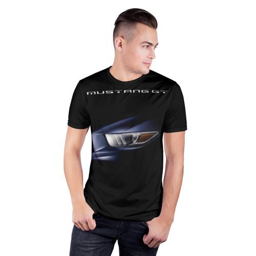 Мужская футболка 3D спортивная  Фото 03, Ford Mustang GT 2