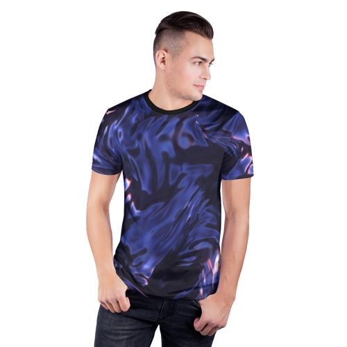 Мужская футболка 3D спортивная  Фото 03, Нефть