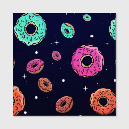 Холст квадратный  Фото 02, Black Milk Космические Пончики