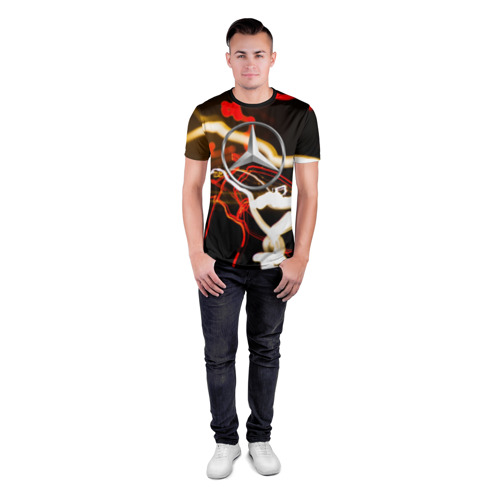 Мужская футболка 3D спортивная  Фото 04, Mercedes-Benz