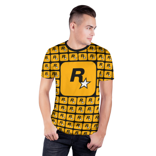 Мужская футболка 3D спортивная  Фото 03, Rockstar