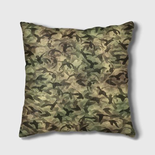 Подушка 3D  Фото 02, Охотничий камуфляж с утками