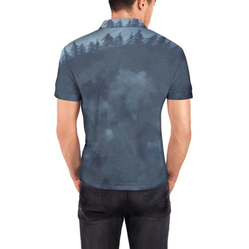 Мужская рубашка поло 3D  Фото 04, Зимний лис