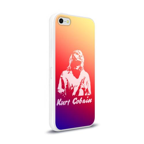Чехол для Apple iPhone 5/5S силиконовый глянцевый  Фото 02, Kurt Cobain
