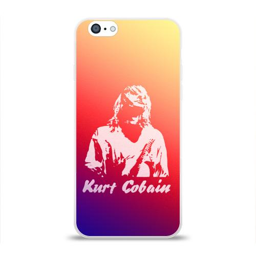 Чехол для Apple iPhone 6 силиконовый глянцевый  Фото 01, Kurt Cobain
