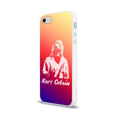 Чехол для Apple iPhone 5/5S силиконовый глянцевый  Фото 03, Kurt Cobain
